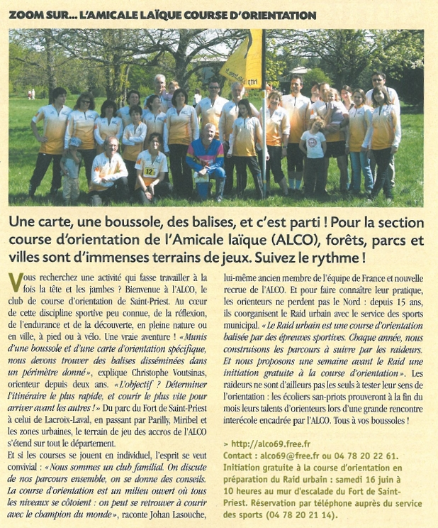 Article du magazine Couleur